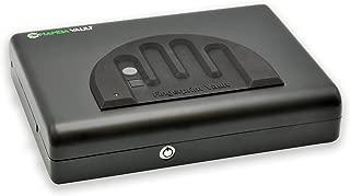 Mamba Vault Biometric Gun Safe (MV505B) Secure Handgun & Pistol Storage Box - Quick Access, Home Safety, Concealed Carry for 9mm, .45 ACP , Heavy-Duty Steel