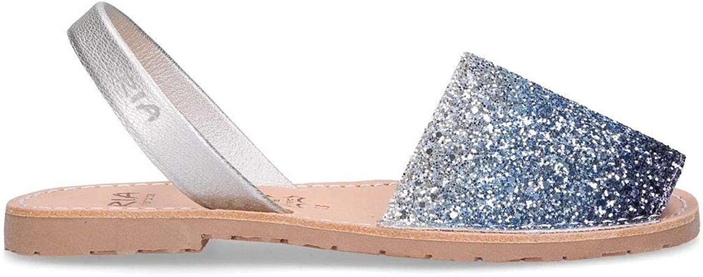 RIA MENORCA Women's 2722407 bluee Glitter Sandals