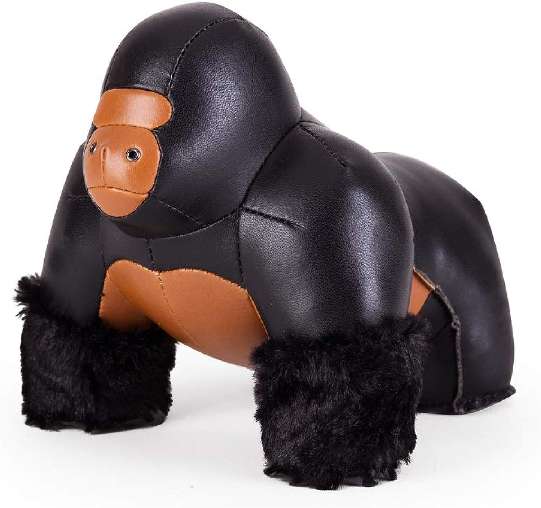 Züny - Gorilla Milo - Buch- und Türstopper - Gro - Schwarz-Braun - 1 kg