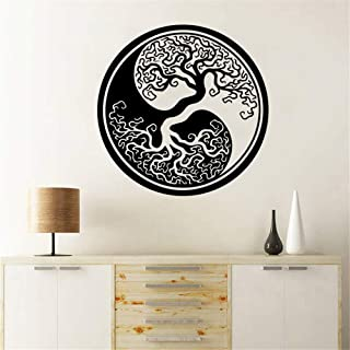 Cenrial Vinyl Wall Art Inspirational Quotes and Saying Home Decor Decal Sticker Tree of Life Wall Stickers Tree of Life Yin Yang Classic Round