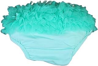 PQZATX Baby Girl Ruffle Panties Bloomers Diaper Cover S (Aqua Green)