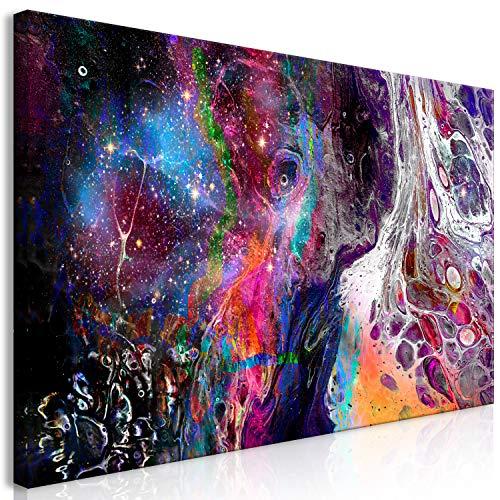 murando Cuadro en Lienzo Abstracto 120x60 cm 1 Parte Impresión en Material Tejido no Tejido Impresión Artística Imagen Gráfica Decoracion de Pared Galaxy Cosmos a-A-0420-b-a