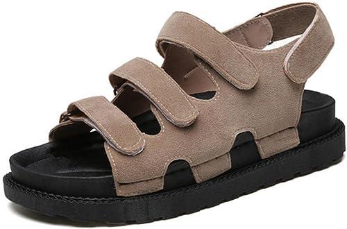 Sandales creuses à fond épais sandales à semelle souple , khaki , US6.5-7   EU37   UK4.5-5   CN37