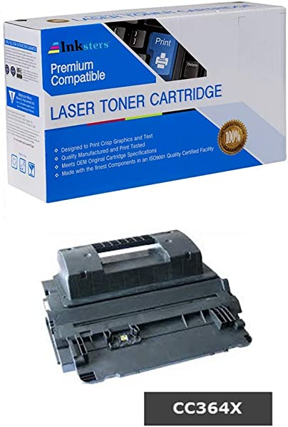 Inksters Compatible Black Toner Cartridge Replacement For HP 64X CC364X High Capacity Compatible With Laserjet P4015 P4015N P4015TN P4015X P4515 P4515N P4515TN P4515X P4515XM