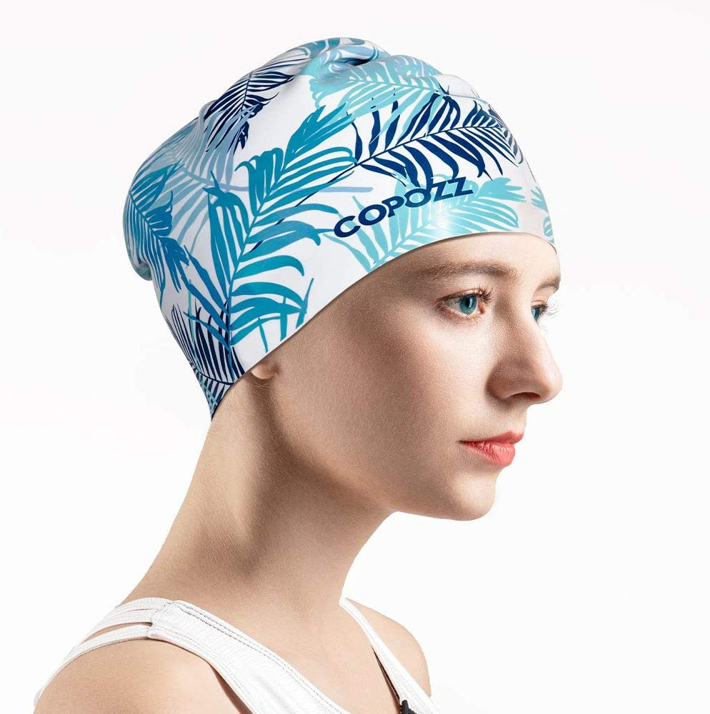 COPOZZ Swim Large special price !! Cap for Ladies Swimming Caps Silicone Upgraded 1 year warranty