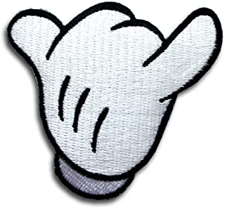 Embroidered Mickey Right Hand Sign Inspired Iron On Patch