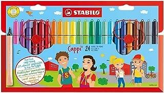 Felt Tip Pen - STABILO Cappi wallet of 24 + 2 cap-rings
