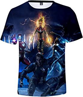 7c1b49ed22 Avengers Endgame Shirt Kids Heros Cosplay T-Shirt 3D Full Printed Short  Sleeves Sport Tee