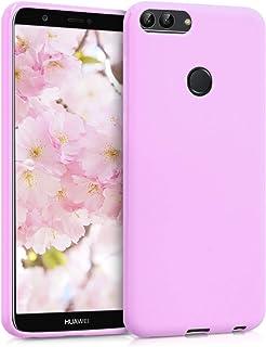 kwmobile telefoonhoesje compatibel met Huawei Enjoy 7S / P Smart (2017) - Hoesje voor smartphone - Back cover in mat oudroze