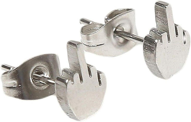 Huangyong Stainless Steel Geometry Stud Earrings Punk Stud Earrings for Mens and Womens