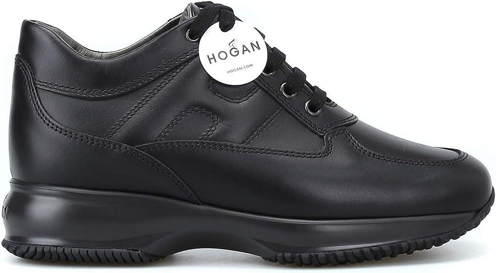 Hogan interactive in pelle nera, donna. hog-hxw00n00010hqkb999