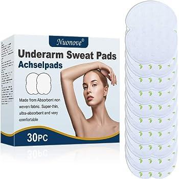 Ascelle Assorbenti, Pad Sudore, Underarm Sweat Pads, Ascella Pads Sudore per Ascelle, Sottilissimo, ultra-assorbente e molto confortevole, 30pc