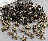skyllc® 100X Remaches Metal 11mm Estrella Tachuelas Bolsa/Calzado/Guante