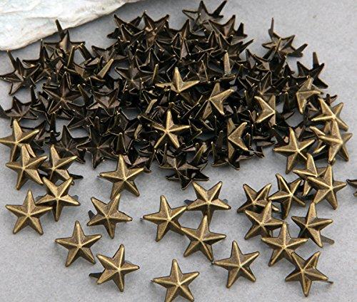skyllc 100X Remaches Metal 11mm Estrella Tachuelas Bolsa/Calzado/Guante