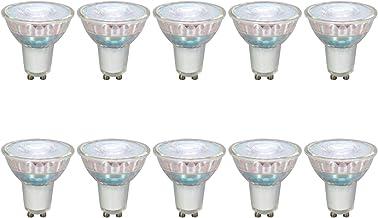 Umi by Amazon GU10 MR16 Spotlight LED Light Bulb, 4W (Equivalent to 35W), 15,000 Hours, Glass, Warm White (2700K) - Pack o...