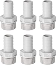 uxcell PVC Barb Hose Fitting Connector Adapter 16mm or 5/8 inches Barbed x 3/4 inches G Male Pipe 6pcs