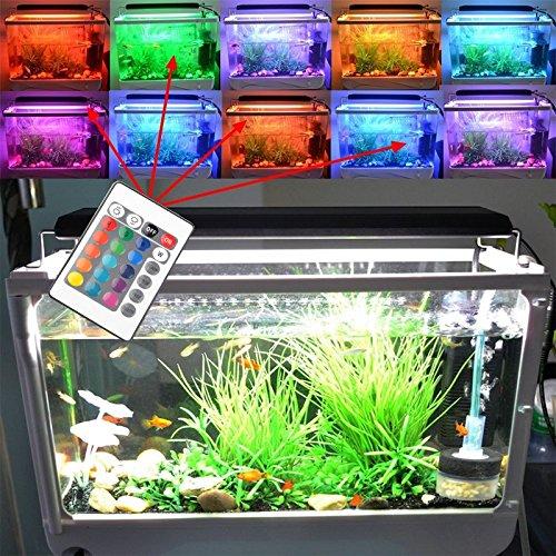 BIOENGIE HI-Lumen RGB Dimmbar 24KEY Fernbedienung 60cm 90SMD 9W für (63-73cm) Aquarium Süßwasser Meerwasser Beleuchtung Aufsetzleuchte