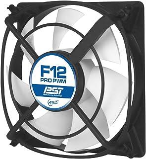 ARCTIC F12 Pro PWM PST – 120 mm Ventilador de Caja para CPU con PWM Sharing Technology (PST), Muy Silencioso, Computadora, 500-1500 RPM – Gris/Blanco