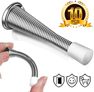 ALLYAOFA Pack of 10 Spring Door Stop, Home & Office Child and Pet Friendly Tool with 3.5 Inch Flexible Spring Design, Rust...