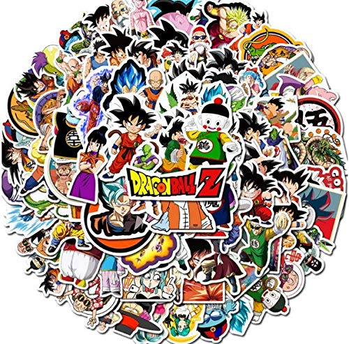Anime Dragon Ball Graffiti Sticker Bike Skateboard Guitar Suitcase Waterproof Stickers 100 Sheets