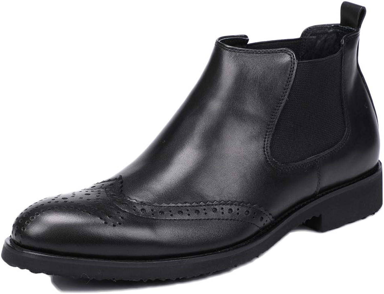 Snfgoij Chelsea Stiefel Herren Wildleder Oxblood Sicherheit Brogue Klassische Herren Stiefel Stiefelies Top Layer Leder Business