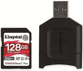 Kingston MLPR2/128GB Canvas React Plus UHS-II SD Memory Card, 128GB
