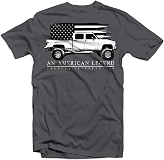 Aggressive Thread Squarebody Chevy Truck T-Shirt with Crew Cab Square Body