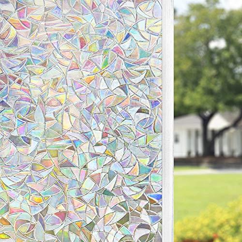 FINNEZ Fensterfolie Sichtschutz - Statische Selbstklebende Mattierte Fensterfolie, Nicht Geklebte 3D-Dekorglasfolie, Wiederverwendbare Umweltfolie, für Küche, Schlafzimmer. (90 x 200 cm)