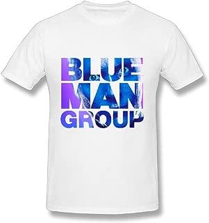 Blue Man Group Las Vegas Tour 2016 Logo Design Mens T-Shirts White