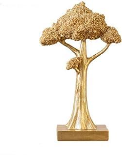 Abstrakt unik staty skulptur kreativ abstrakt och kreativ skrivbord dekorationer staty, harts gyllene lyckliga träd cash c...