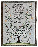 God Grant Me The Serenity Prayer Woven Tapestry Throw Blanket with Fringe 50 X 60 Inches