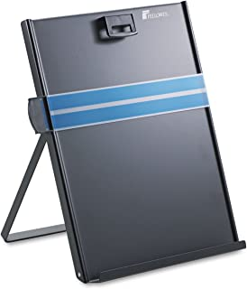 "Fellowes Mfg. Co. Products - Metal Copyholder, Letter, 10-5/8""x8-3/8""x11-3/8"", Black - Sold as 1 EA - Easel-style copyhold..."