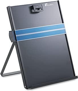 Fellowes 11053 Metal Copyholder, Steel, 200 Sheet Capacity, Black