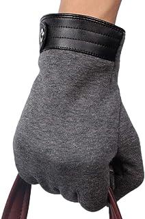HAOSHUAI Handschoenen voor heren Winter Warm Plus Fluwelen Handschoenen Outdoor Riding Winddicht Full Finger Touch Screen Heren Handschoenen Ridding handschoenen (Kleur : Blauw, Maat : M)