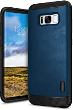 Ringke Flex S Compatible with Galaxy S8 Plus Case Classy Slim Look Flexible TPU Premium Hard PC Leather Hybrid Protection Non Slip Tactile Grip Scratch Resistant for Galaxy S8 Plus - Blue