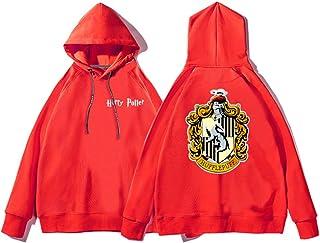 Womens Pullover Hoodie, Hooded Terry Sweatshirts Jumpers Hufflepuff Print Tops Unisex Long Sleeve Sweatshirts with Big Pockets