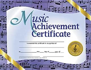 Best music achievement award certificate Reviews