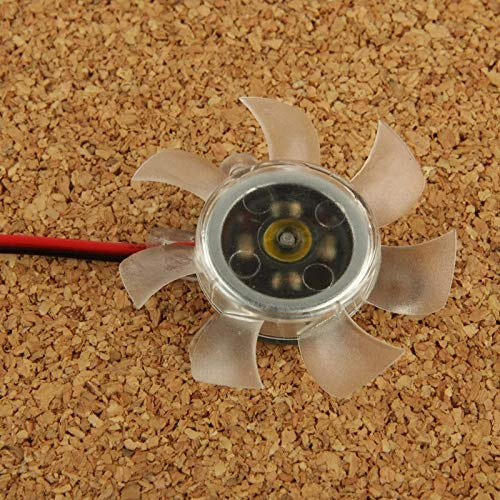 HUANGCAIXIA Reemplazo de la computadora de enfriamiento del Ventilador Ventilador de Tarjeta VGA de 2 Pines de 50 mm