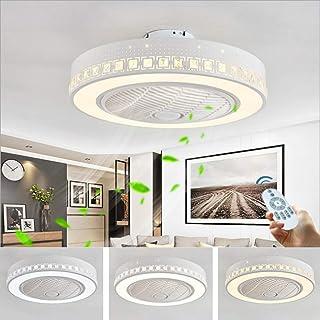 Ventilador Ventilador De Techo Luz De Techo Led Con Iluminación Y Control Remoto Regulable Ventiladores Invisibles Silencioso Lámpara De Techo Moderna Para Habitación De Niños Lámpara De Dormitorio