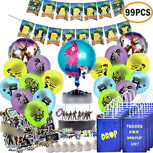 TOYOYO Video Game Birthday Party Supplies Set for Game Fans (99Pcs), Video Game birthday Party Favor Bags Goodie Bags Banner...