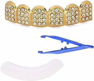 Paddsun 14K Gold Teeth Grillz Top Tooth Cap Grill Hip Hop Bling Grills