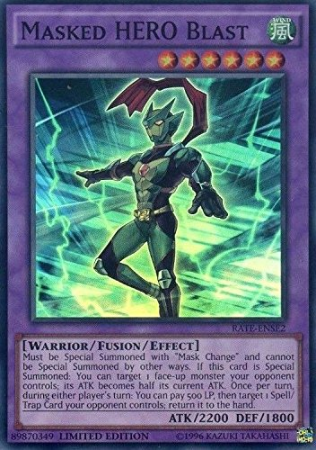 Masked Hero Blast - Rate-ENSE2 - Super Rare - Limited Edition - Raging Tempest: Special Edition