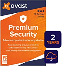 $79 » Avast Premium Security 2020 | Antivirus Protection Software | 10 Devices, 2 Years [PC/Mac/Mobile Download]