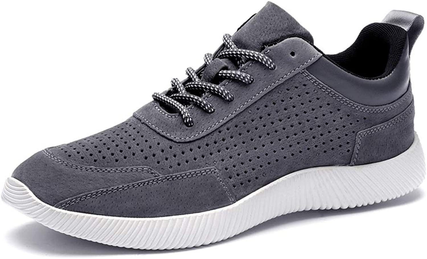Hetai Men Athletic shoes Fashion Casual Comfortable Hollow Breathable Lightweight Lacing Up Sports shoes