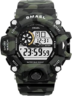 Men's Sports Watch, Digital Watch Military Watch with Waterproof Function and Alarm Clock- Forest Camouflage