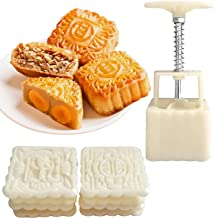 AICHEF Mooncake Mould Mooncake Mould Set 1 Bucket Of Hand-pressed Mould And 8 Stereotypes Pieces, The Square Capacity Is 1...