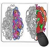 Alfombrilla de ratón Plantilla Mandalas Decoración Tarjetas de felicitación Libros para Colorear Terapia de Arte Anti estrés Imprimir Textil Set Mousepad 25 * 30CM