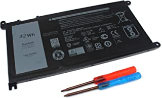 BE·SELL New 11.4V42WH Battery for Dell WDX0R Inspiron 13(5368 5378 5379 7368 7378 14-7460) 15(5565 5567 5568 5578 7560 7570 7579 7569 P58F),17(5765 5767 5770 ) 3CRH3 T2JX4 FC92N CYMGM