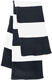 Rugby Striped Knit Winter Scarf. CB0169