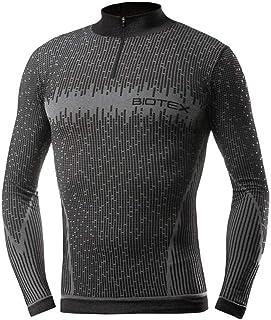 705560var - Camiseta Interior Manga Larga Cremallera Color Negro Talla M